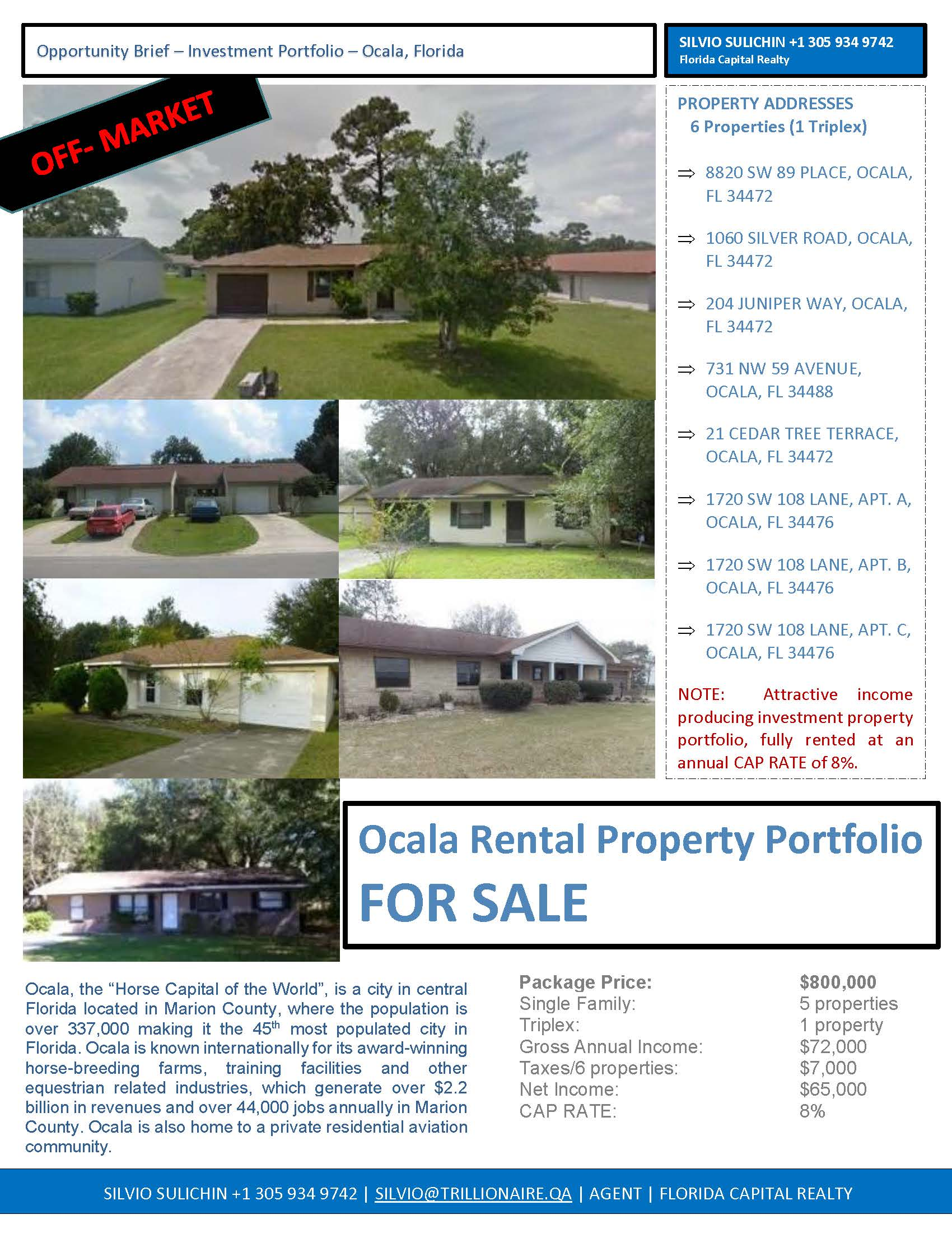 Ocala Property Package FOR SALE