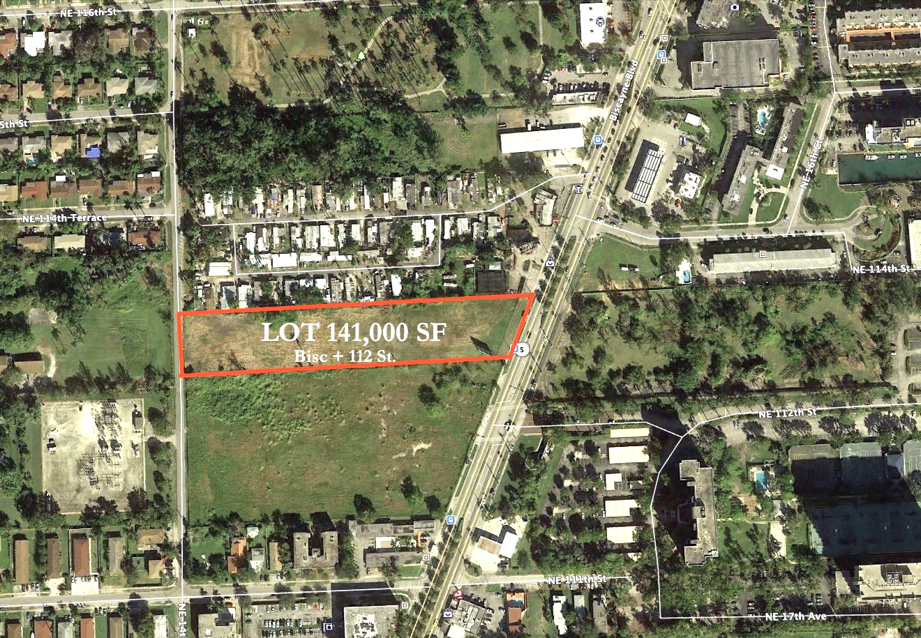 Land For Sale - 112th Street & Biscayne Boulevard, Miami, FL